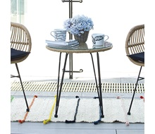 9ad4a574a1 SALSA τραπέζι Μεταλλικό Μαύρο Wicker Φυσικό