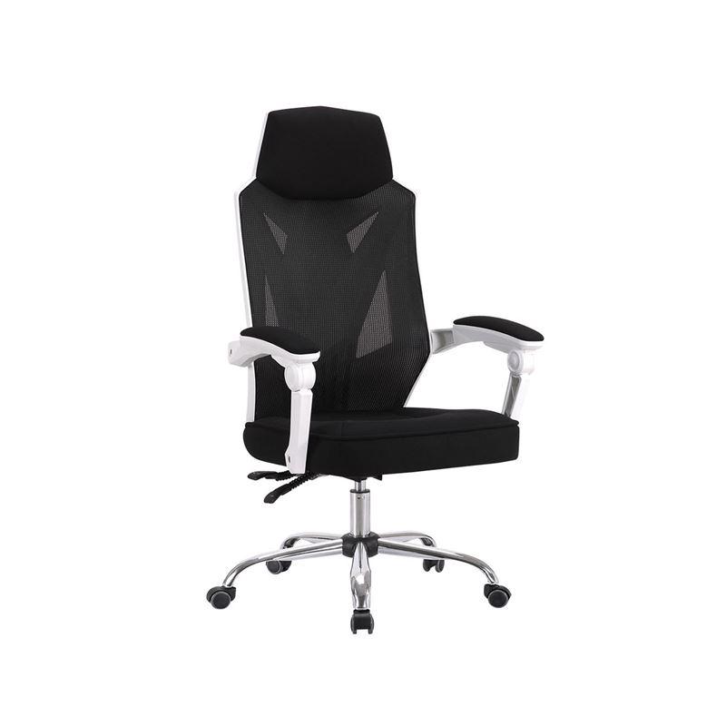 BF9450 *Unpacked* Πολυθρόνα Relax Γραφείου Διευθυντή Βάση Χρώμιο - PP Άσπρο - Mesh Μαύρο