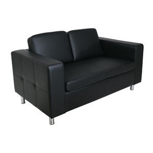ALAMO Καναπές 2θέσ.Pu Μαύρο 145x85x82cm