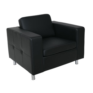 ALAMO Πολυθρόνα Pu Μαύρο 97x85x82cm