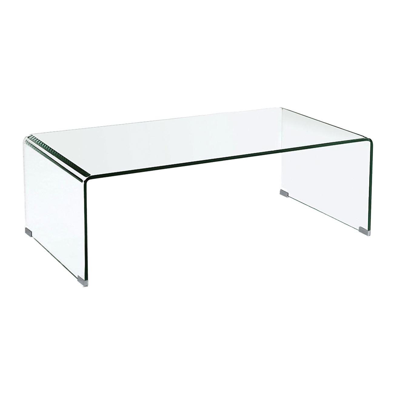 GLASSER Clear Κονσόλα γυαλί 12mm 110x35x75cm