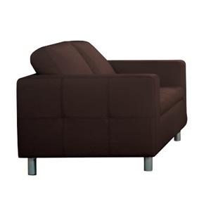 ALAMO Καναπές 2θέσ.Pu Σκ.Καφέ 145x85x82cm