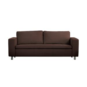 ALAMO Καναπές 3θέσ.Pu Σκ.Καφέ 199x85x82cm