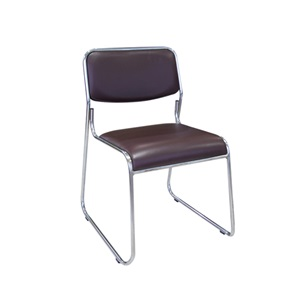 CAMPUS Καρέκλα Χρώμιο/Soft PVC Σκ.Καφέ