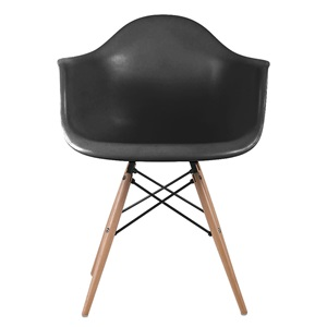 ALEA Wood Πολυθρόνα PP Μαύρο