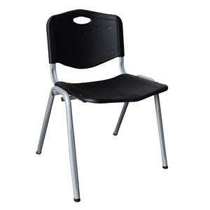 STUDY Καρέκλα Μαύρη (Βαφή Silver)