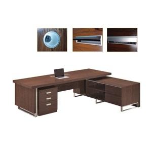 ALPINE Γραφείο -Δεξ- 240x100/200x62cm Σκ.Καρυδί