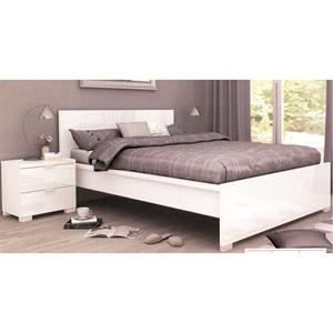 ALEXIA Κρεβάτι (για στρώμα 160x200) Άσπρο High Gloss