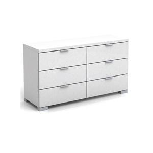 ALEXIA Συρταριέρα 140x39x67 Άσπρο High Gloss