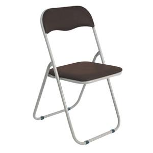 LINDA Καρέκλα Πτυσ/νη Pvc Καφέ (Βαφή Γκρι)