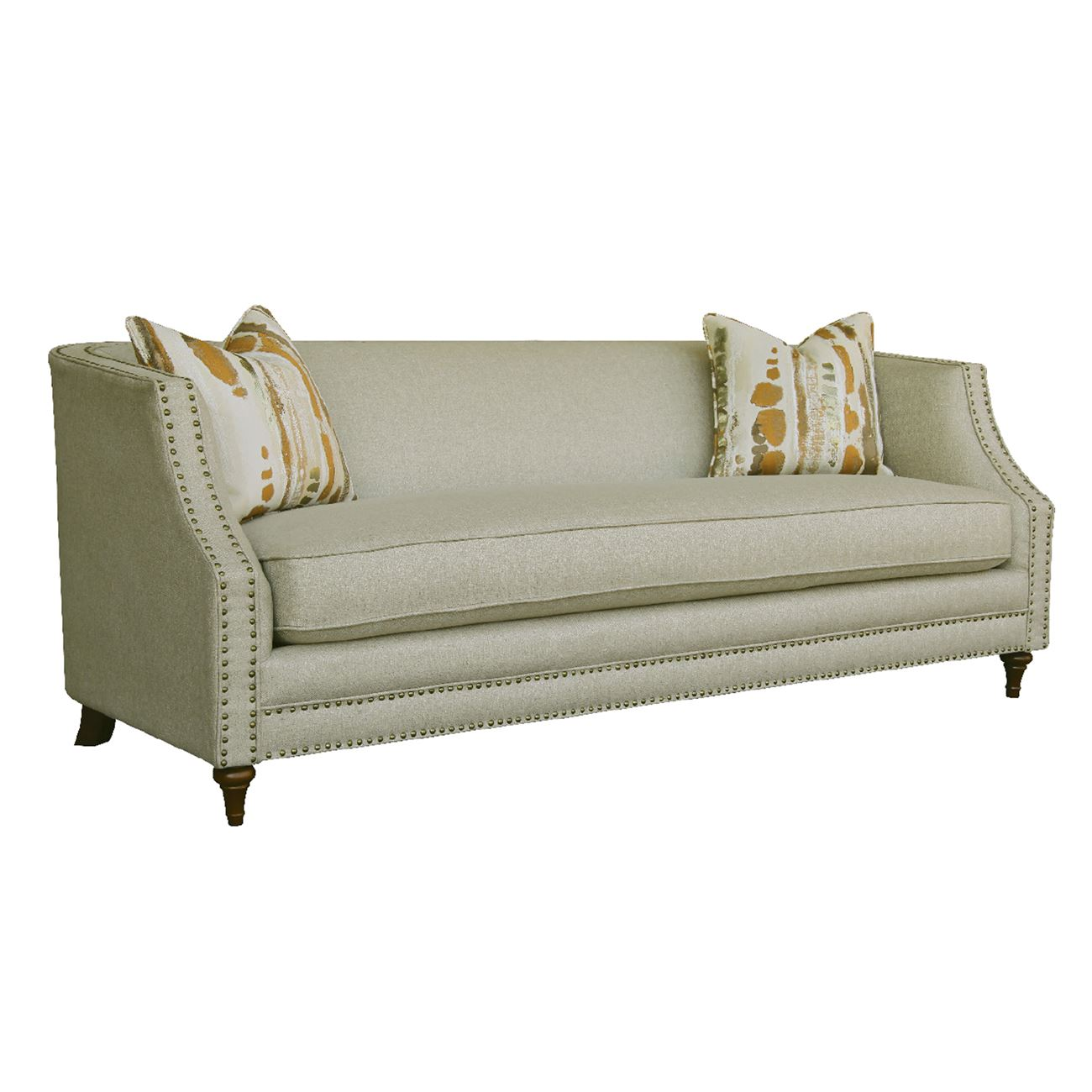 MARION 3-Seater Sofa Fabric Beige (Removable cushion covers)