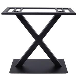 FERRO Βάση 70x40cm Steel Μακρόστενη H72cm Μαύρη (22,60Kg)
