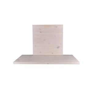 PINE Καπάκι 80x80/4cm, White Wash/Φυσικό (Ξύλο πεύκου)
