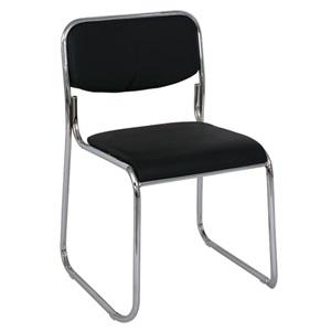 CAMPUS Καρέκλα Χρώμιο/Soft Pu Μαύρο