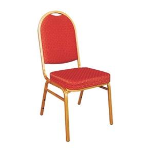 SHERATON Καρέκλα Μεταλλική Ύφασμα Κόκκινο