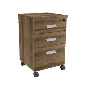 ALPINE Συρταριέρα 3-Συρτ.40x40x65cm Brown Oak