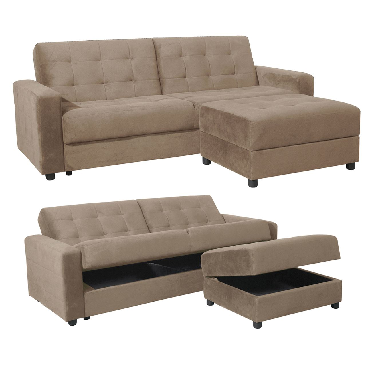 Marvelous Jackson Sofabed Storage Corner Sand Beige Ibusinesslaw Wood Chair Design Ideas Ibusinesslaworg