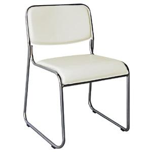 CAMPUS Καρέκλα Χρώμιο/Soft Pu Εκρού