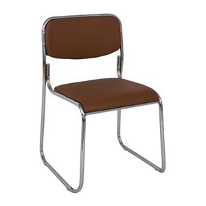 CAMPUS Καρέκλα Χρώμιο/Soft Pu Καφέ