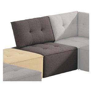 ALCO Καρέκλα Ύφασμα Καφέ