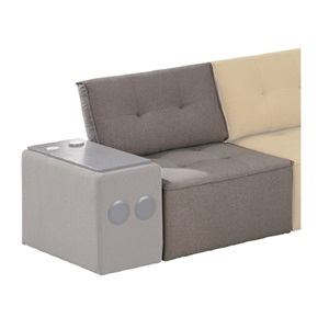 ALCO Καρέκλα Ύφασμα Γκρι
