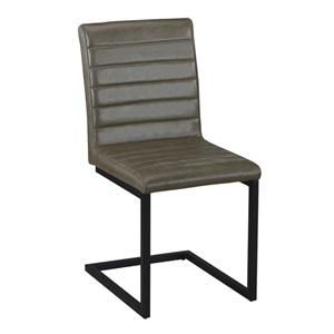 ALTO Καρέκλα Μεταλλική Μαύρη/Ύφασμα Vintage Green