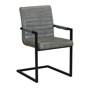 ALTO Πολυθρόνα Μεταλλική Μαύρη/Ύφασμα Vintage Grey