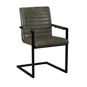 ALTO Πολυθρόνα Μεταλλική Μαύρη/Ύφασμα Vintage Green