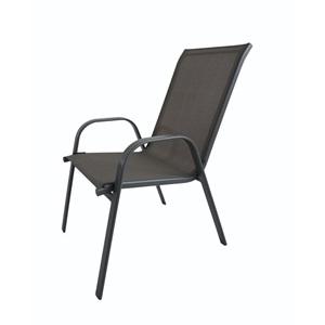 Πολυθρόνα Μετ/Textil SC092 (RIO) Μαύρη