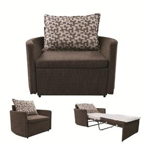 ADAMS Πολυθρόνα-Κρεβάτι Ύφασμα Καφέ