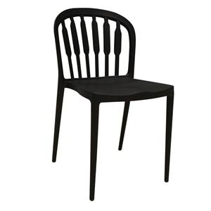 VIRGINIA Καρέκλα PP Μαύρη