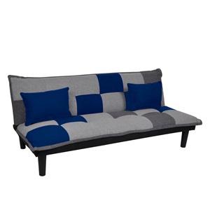 FENDER Καναπ.Κρεβάτι Ύφ.Patchwork-Blue 168x76x70cm