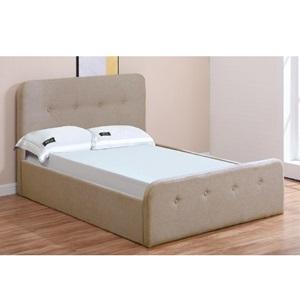 ACCORD Κρεβάτι (για στρώμα 90x190cm) Ύφασμα Μπεζ/Αποθ.Χώρος