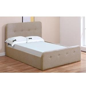 ACCORD Κρεβάτι (για στρώμα 140x190cm) Ύφασμα Μπεζ/Αποθ.Χώρος