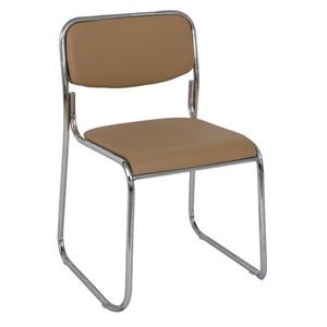 CAMPUS Καρέκλα Χρώμιο/Soft Pu Cappuccino