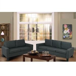 SERGIO Set Καναπέδες (3θέσ+2θέσ) Ύφ.Ανθρακί