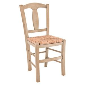 ΡΟΔΟΣ Καρέκλα Άβαφη με Ψάθα Αβίδωτη