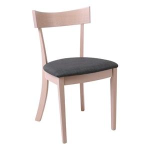 ALLEN Καρέκλα White Wash/Ύφ.Γκρι