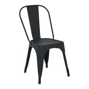 RELIX Καρέκλα Μεταλ.Μαύρη Matte High