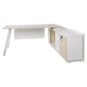 PLANET Metal *Προσφοράς* Γραφείο -Δεξ.Γωνία- 180x160cm Απ.Σημύδας/Άσπρο
