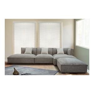 ALBERT Καναπές Γωνία/Αριστ.Ύφασμα Καφέ-Γκρι